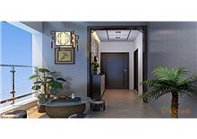 碧园大城小院三房一厅96㎡怀旧风格装修效果图
