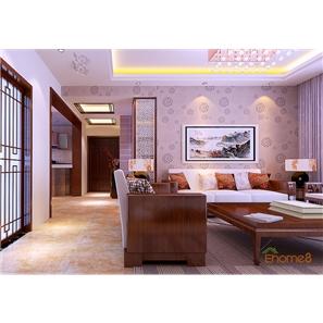 大城小院三房一厅98㎡中式风格装修效果图