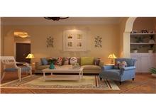颐和家园三房两厅95㎡欧式风格装修效果图