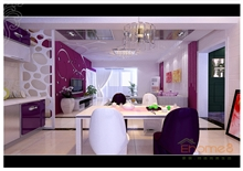 大城小院浅紫色客厅美图