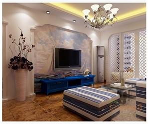 大城小院蓝元素客厅装修效果图
