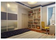 紫荆花园美式卧室装修效果图