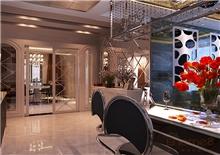 金色世纪现代气息的餐厅装修美图