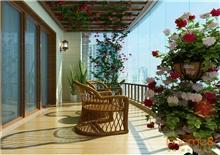 阳光花园满园春色的阳台