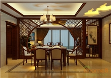 和谐家园中式餐厅餐桌装修效果图