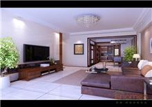 康城75㎡两房一厅简装效果图
