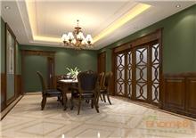 碧园大城小院90㎡三房一厅浅绿主题装修效果图