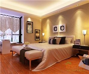 碧园大城小院跃层卧室现代风格装修效果图
