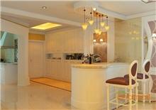 蝴蝶园地中海风格138平米餐厅吧台装修效果图