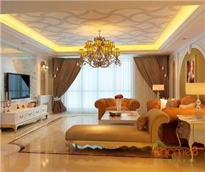 彩虹城地中海风格138平米客厅卫生间装修效果图