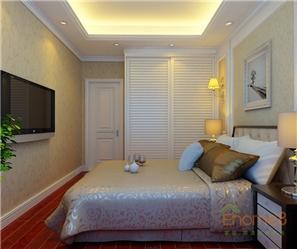 彩虹城地中海风格138平米卧室装修效果图