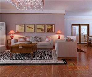 彩虹城77平米欧式简装客厅装修效果图