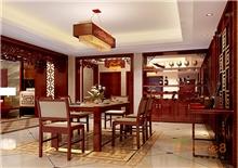 书香园99平米三房一厅中式餐厅厨房装修效果图