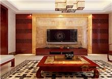 书香园99平米三房一厅中式客厅装修效果图