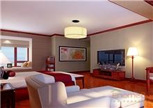 书香园99平米三房一厅中式卧室装修效果图
