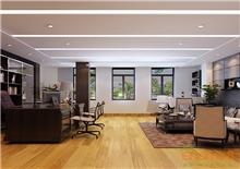 美式简单舒适老板办公室装修效果图