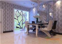在水一方两房一厅82㎡美式风格装修效果图