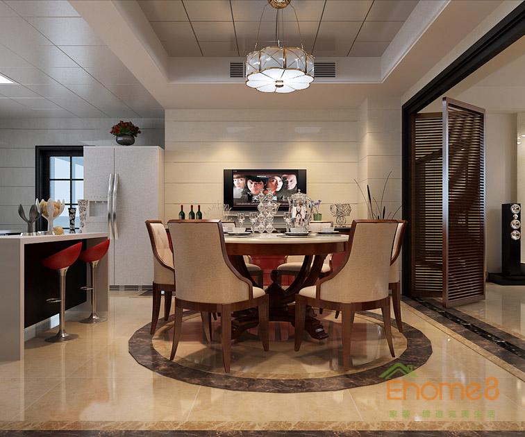 康城73㎡两房一厅法式风格装修效果图