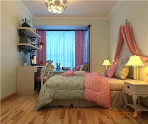 阳光100城市广场73㎡两房一厅田园风格卧室装修效果图