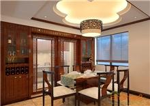阳光100城市广场97㎡三房一厅中式原木风格装修效果图