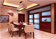 阳光花园66㎡两房一厅中式原木风格装修效果图