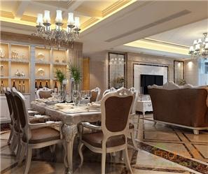 和谐家园140㎡四房一厅法式风格装修效果图