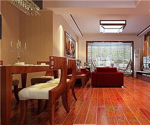 和谐家园98㎡三房一厅中式田园风格装修效果图