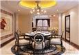 和谐家园108㎡三房一厅法式风格装修效果图