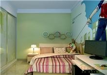 天鹅湖78㎡两房一厅欧式风格装修效果图