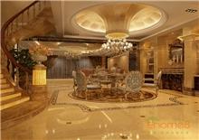 天鹅湖300㎡豪华别墅法式风格装修效果图