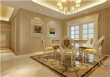 大城小院112㎡三房一厅欧式风格装修效果图