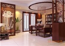 大城小院72㎡两房一厅中式原木风格装修效果图
