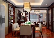 紫荆花园69㎡两房一厅中式风格装修效果图