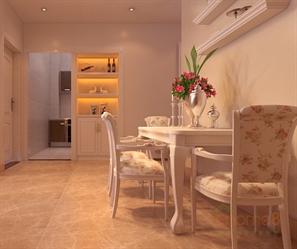 紫荆花园99㎡三房一厅法式风格装修效果图