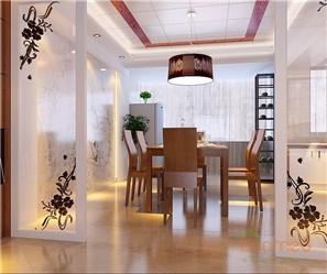 紫荆花园119㎡三房一厅中式风格装修效果图