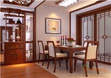 绿城76㎡两房一厅现代中式风格装修效果图