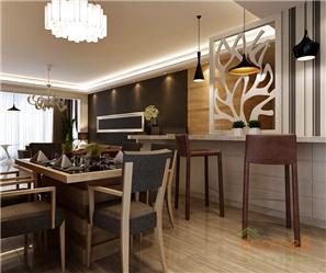 恒大城112㎡三房一厅欧式风格装修效果图