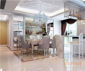 恒大城62㎡两房一厅现代简约风格装修效果图