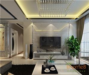 四季花城 71㎡两房一厅美式风格装修效果图