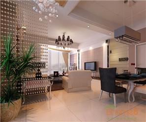 中央美地82㎡两房一厅欧式风格装修效果图