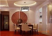 在水一方78㎡两房一厅中式中国风装修效果图