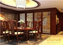 颐和家园112㎡三房一厅中式原木风格装修效果图