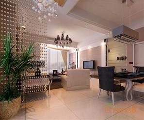 颐和家园82㎡两房一厅欧式风格装修效果图