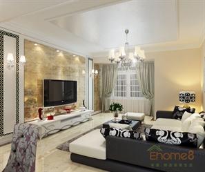 颐和家园60㎡两房一厅欧式风格装修效果图