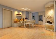山语城76㎡两房一厅美式风格装修效果图