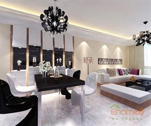 山语城78㎡两房一厅美式风格装修效果图