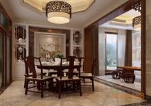 在水一方78㎡两房一厅中式原木风格装修效果图