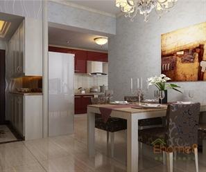 柳州中央美地小区75㎡两房一厅美式风格装修效果图