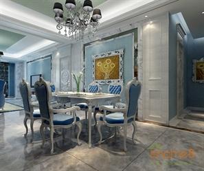 在水一方99㎡三房一厅欧式地中海风格装修效果图
