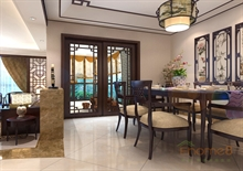 在水一方75㎡两房一厅中式风格装修效果图